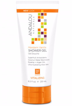 Shower Gel Mandarin Vanilla Vitalizing 8.5 oz Andalou Skin Care