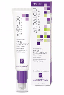 Facial Serum SPF 30 DIY Booster Unscented 2 oz Andalou Naturals