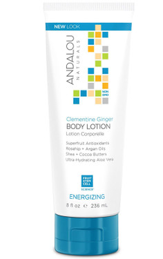 Body Lotion Clementine Ginger Energizing 8 oz (236 ml), Andalou Naturals