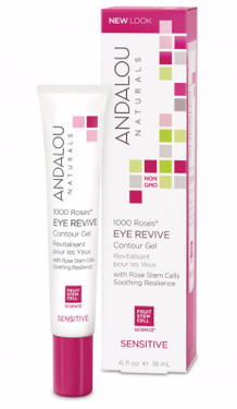 Eye Revive Contour Gel 1000 Roses Sensitive .6 oz Andalou
