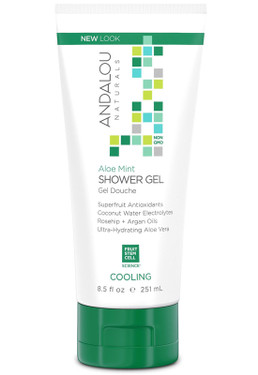 Shower Gel Aloe Mint Cooling 8.5 oz (251 ml) Andalou Naturals