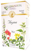 Thyme Leaf Tea Organic 24 Tea Bags Celebration Herbals