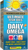 Norwegian Gold Daily Omega 60 Fish Gels Renew Life, Cardiovascular Health