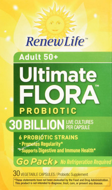 Ultimate Flora RTS Senior Care Probiotic 30 Billion 30 Caps Renew Life
