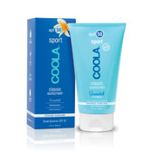 Classic Sunscreen Sport Unscented SPF 50 5 oz (148 ml), COOLA Organic Suncare Collection