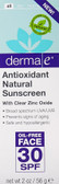 ntioxidant Natural Sunscreen 30 SPF 2 oz (56 g), Derma E