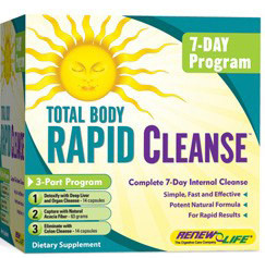 Total Body Rapid Cleanse 7 Day 3-Part, Renew Life, Detox