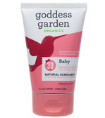 Organics Baby Natural Sunscreen SPF 30 3.4 oz (100 ml), Goddess Garden