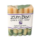 Zum Bar Goat's Milk Soap Lemongrass 3 oz Handmade Bar, Indigo Wild