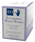 Sanitizing Hand Wipes Lavendar 24 towlettes, EO Products