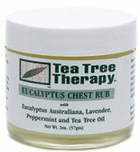 Tea Tree Therapy Eucalyptus Chest Rub 2 oz, Tea Tree Therapy