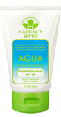 Aqua Vegan Sunscreen SPF 50 4 oz (118 ml), Nature's Gate
