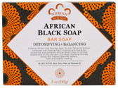 African Black Soap Bar 5 oz Nubian Heritage, Acne, Detoxifying
