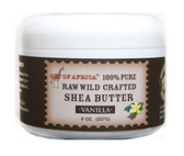 Shea Butter Raw Wild Crafted Vanilla 8 oz (227 g), Out of Africa