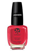 Polish & Peel Water-Based Nail Polish Pink Dahila 0.27 oz (8 ml), Suncoat