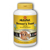 Brewer's Yeast For Dogs & Cats Natural Beef & Garlic Flavor 90 Chewable Tabs, Actipet