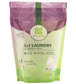 3-in-1 Laundry Detergent Pods Lavender 24 Loads 15.2 oz (432 g), GrabGreen