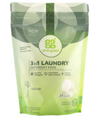 3 in 1 Laundry Detergent Pods Vetiver 24 Loads 15.2 oz (432 g), GrabGreen