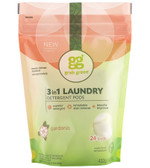 3-in-1 Laundry Detergent Pods Gardenia 24 Loads 15.2 oz (432 g), GrabGreen