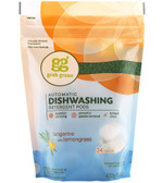 Automatic Dishwashing Detergent Pods Tangerine with Lemongrass 24 Loads 15.2 oz (432 g), GrabGreen