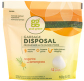 Garbage Disposal Freshener & Cleaner Tangerine with Lemongrass 12 Pods 5.9 oz (168 g), GrabGreen