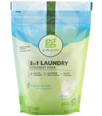 3-in-1 Laundry Detergent Fragrance Free 15.2 oz (432 g), GrabGreen