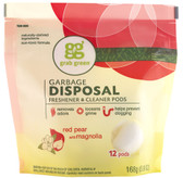 Garbage Disposal Freshener & Cleaner Red Pear with Magnolia 12 Pods 5.9 oz (168 g), GrabGreen