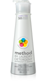 Laundry Detergent 50 Loads Free + Clear 20 oz (600 ml), Method