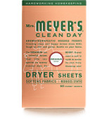 Dryer Sheets Geranium Scent 80 Sheets, Mrs. Meyers Clean Day