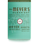 Dryer Sheets Basil Scent 80 Sheets, Mrs. Meyers Clean Day