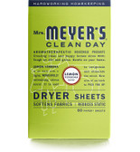 Dryer Sheets Lemon Verbena Scent 80 Sheets, Mrs. Meyers Clean Day