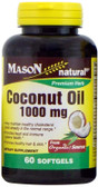 Coconut Oil 1000 mg 60 sGels, Mason, Healthy Hair & Skin