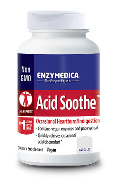 Enzymedica Acid Soothe 90 Caps, Heartburn, Indigestion