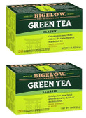 2 x Green Tea Classic 20 Tea Bags .91 oz (25 g), Bigelow, 2-Pack