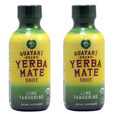 2 x Yerba Mate Organic Energy Shot Lime Tangerine 2 oz (59 ml), Guayaki, 2-Pack
