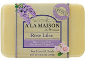 Rose Lilac Bar Soap 8.8 oz (250 g), A La Maison de Provence