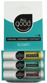 Lip Balm SPF 15 Original Spearmint Coconut 3 Pack 4.25 g Each, All Good Products