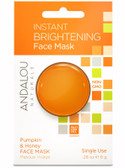 Instant Brightening Pumpkin & Honey Face Mask .28 oz Andalou