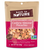 Cashew Almond Pistachio Mix 9 oz (255 g), Back to Nature