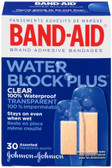 Brand Adhesive Bandages Water Block Clear 30 Assorted Sizes, Band Aid