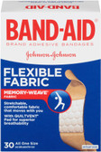 Brand Adhesive Bandages Flexible Fabric 30 Bandages, Band Aid