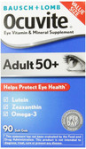 Eye Vitamin & Mineral Supplement Adult 50+ 90 Soft Gels, Bausch & Lomb Ocuvite