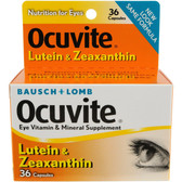 Lutein & Zeaxanthin 36 Capsules, Bausch & Lomb Ocuvite