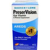 AREDS Eye Vitamin & Mineral Supplement 120 Tabs, Bausch & Lomb PreserVision