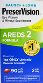AREDS 2 Formula 90 Soft Gels, Bausch & Lomb PreserVision