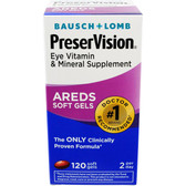 AREDS Eye Vitamin & Mineral Supplement 120 Soft Gels, Bausch & Lomb PreserVision