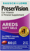 AREDS Eye Vitamin & Mineral Supplement 60 Soft Gels, Bausch & Lomb PreserVision