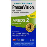 AREDS 2 Formula 60 Soft Gels, Bausch & Lomb PreserVision