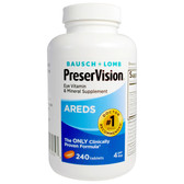 AREDS Eye Vitamin & Mineral Supplement 240 Tabs, Bausch & Lomb PreserVision