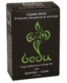 Triple Milled Face & Body Bar Camel Milk Evening Primrose & Vetiver 4 oz, Bedu